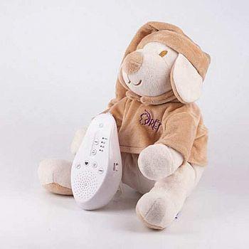 Мягкая игрушка Drema BabyDou Собачка бежевая с белым и розовым шумом