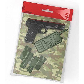 Оружие пластиковое Десятое королевство Пистолет Рация Бинокль