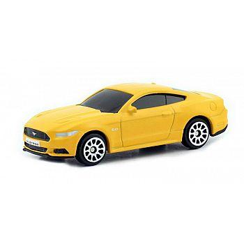 Машинка металлическая Uni-Fortune RMZ City 1:64 Ford Mustang 2015, без механизмов, цвет матовый желтый