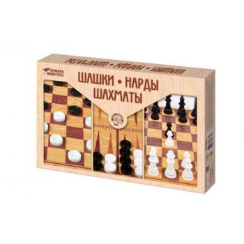Настольная игра Десятое королевство Шашки, Нарды, Шахматы (большие)