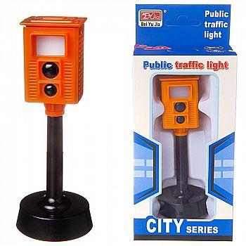 Камера контроля дорожного движения, на батарейках, со световыми и звуковыми эффектами
