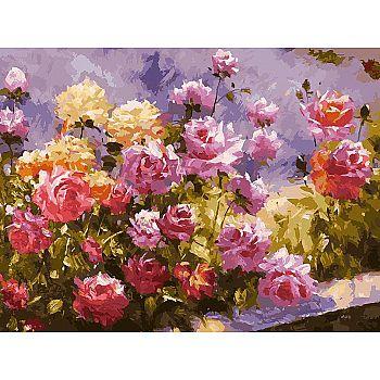 Набор для творчества Белоснежка картина по номерам на холсте Букет роз 30*40 см