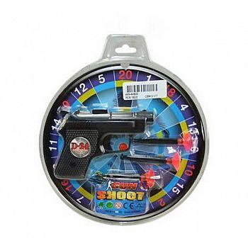 Набор игровой полицейский Пистолет с 3 пулями на присосках и мишенью, пластмасса, на блистере, 23,5х21х3см