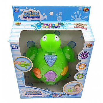 """Черепашка для ванной """"Веселое купание"""" в наборе с аксессуарами (5 предметов)"""