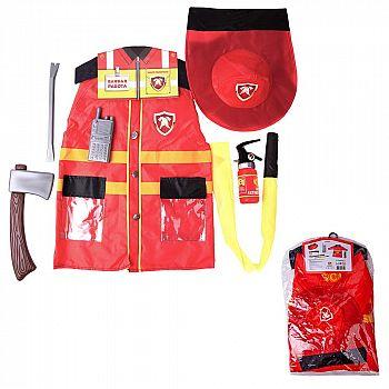 Игровой набор ABtoys Важная работа Форма пожарного, 7 предметов в наборе с аксессуарами