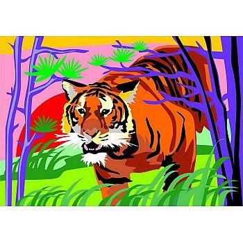 Набор для творчества LORI Картина по номерам для малышей Гордый тигр