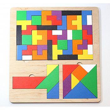 Пазл деревянный Десятое королевство TetrisWood, Танграм, T Танграм