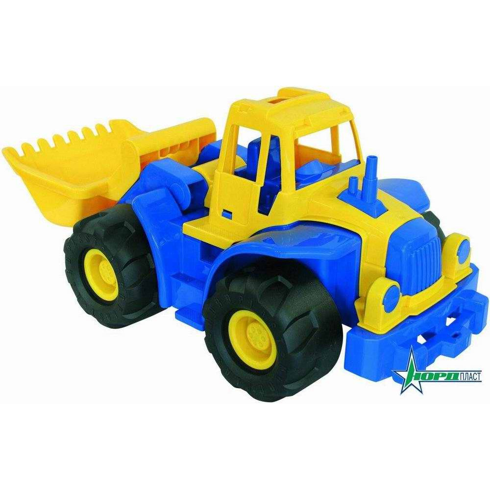 "Трактор ""Богатырь"" с грейдером 68х28х31,5 см"