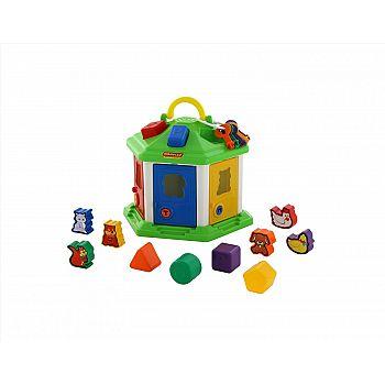 Логический домик №2 (в сеточке) 26,2х23,2х20,8 см.