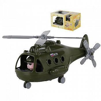 Вертолёт военный Альфа (в коробке) 29х16,5х15,5 см.