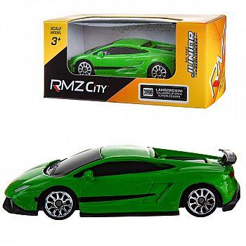 Машинка металлическая Uni-Fortune RMZ City 1:64 Lamborghini Gallardo LP570-4 без механизмов, (зеленый), 7,18х3,10х1,95 см