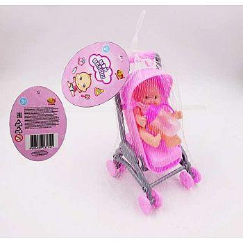 """Пупс """"Мой малыш"""", в наборе с коляской, с аксессуарами"""