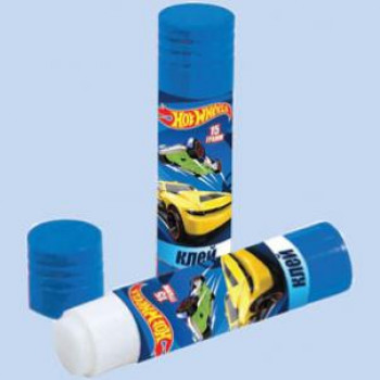 "Клей-карандаш ""Hot Wheels"" ПВА, 15 грамм, цвет клея: белый, цвет корпуса: синий, материал корпуса: пластик"