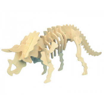 Сборная деревянная модель Чудо-Дерево Динозавры Трицератопс (2 пластины)