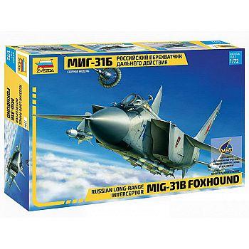 Сборная модель ZVEZDA Самолет Перхватчик МиГ-31Б