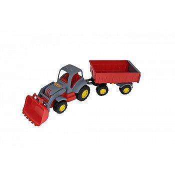 """Трактор с прицепом №1 и ковшом """"Силач"""" 67,5 см."""