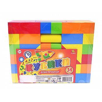 "Кубики ""Конструктор"", в наборе 34 предмета"
