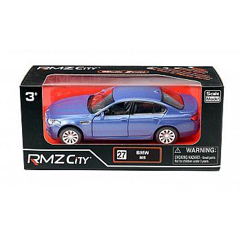 Машинка металлическая Uni-Fortune RMZ City 1:32 BMW M5, инерционная, голубой матовый цвет, 16.5 x 7.5 x 7 см