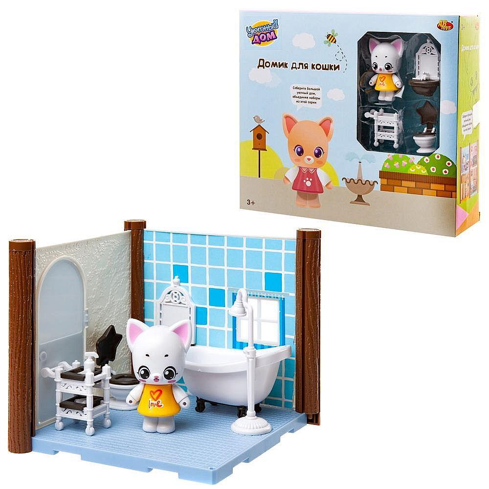 Игровой набор ABtoys Уютный дом Домик для кошки. Ванная комната