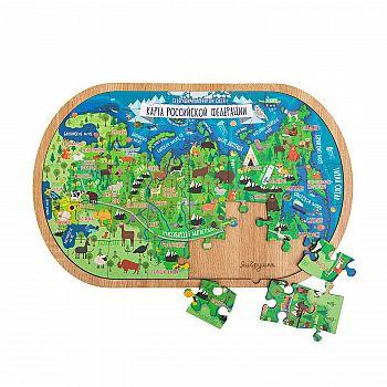 Пазл ЯиГрушка Карта Российской Федерации, деревянный, 36 элементов