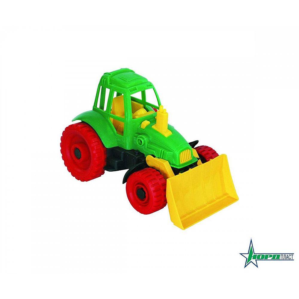 Трактор с грейдером 17,5х16,5х27,5 см