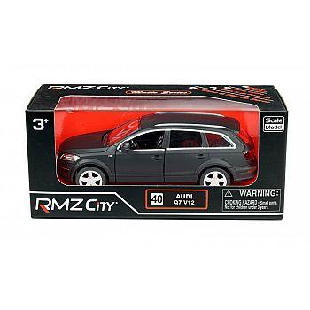 Машинка металлическая Uni-Fortune RMZ City 1:32 Audi Q7 V12 , инерционная, серый матовый цвет, 16.5 x 7.5 x 7 см