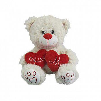 """Медведь белый с сердцем """"Kiss me"""", 18см игрушка мягкая"""