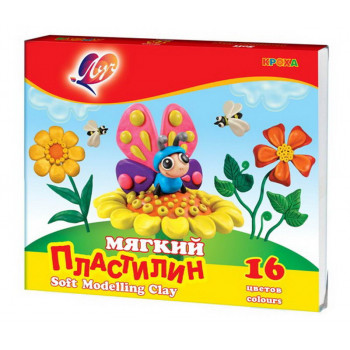 """Пластилин мягкий """"Кроха"""" 6 цветов"""