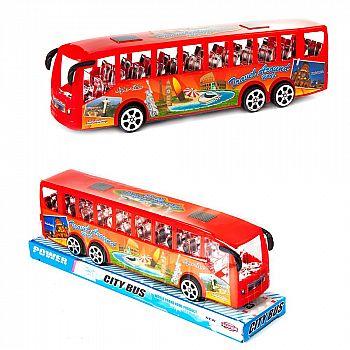 """Машинка """"Автобус"""", пластмассовая, 24х6х8 см"""