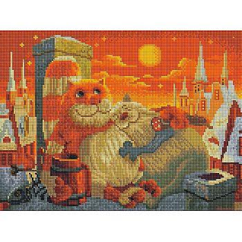 Набор для творчества Белоснежка Алмазная мозаика на раме Поздний ужин 30х40см