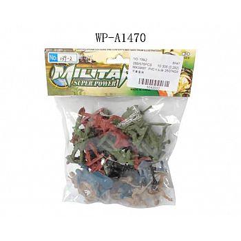 Солдатики Junfa пластмассовые, в пакете 40 шт