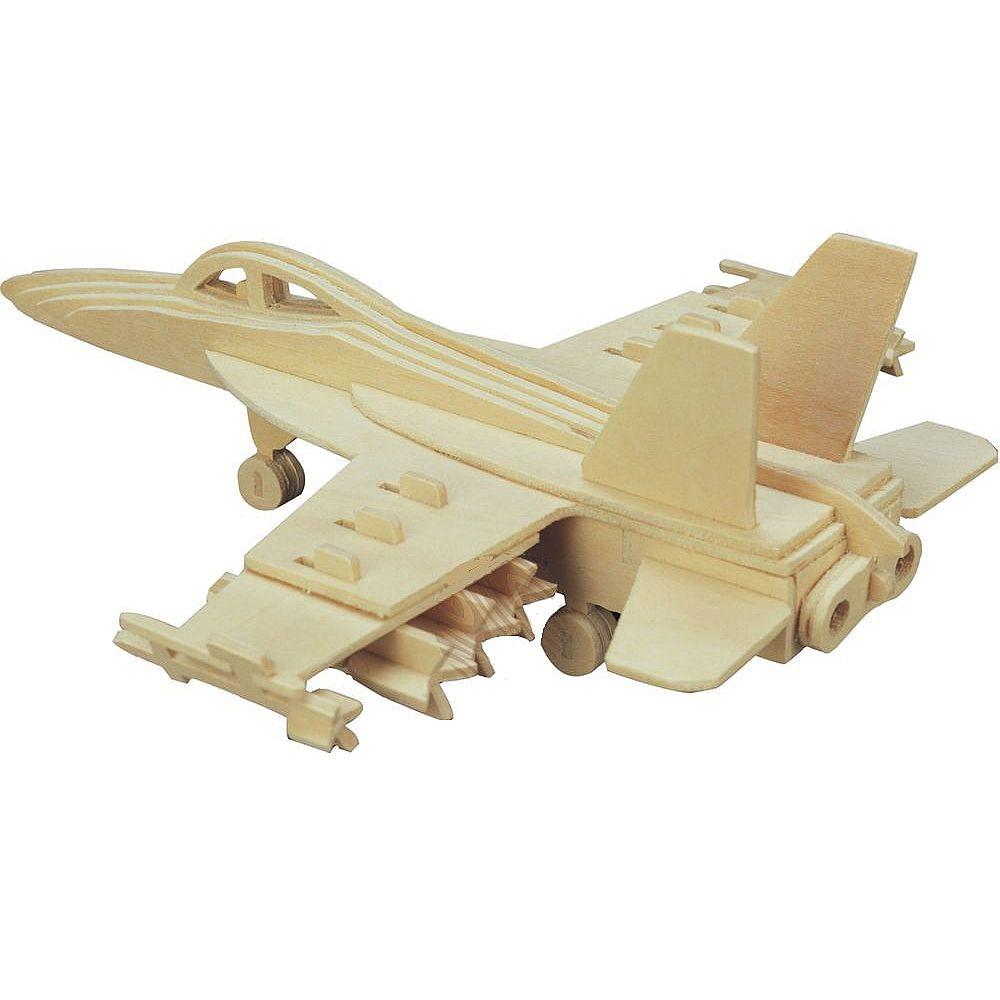 Сборная деревянная модель Чудо-Дерево Авиация Бомбардировщик F18 Хорнет (4/30)