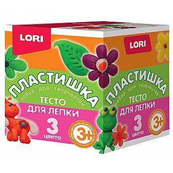 Пластишка Тесто для лепки Набор №17, 3цв. по 70 гр.