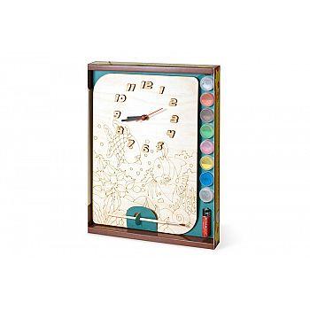 Набор для творчества Нескучные игры Часы Рыбки с циферблатом под роспись с красками