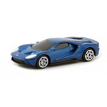 Машинка металлическая Uni-Fortune RMZ City 1:64 Ford GT 2019 (цвет синий)