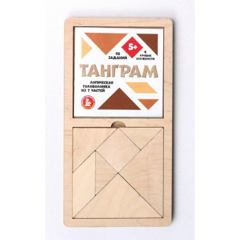 Игра головоломка деревянная Танграм (большая)