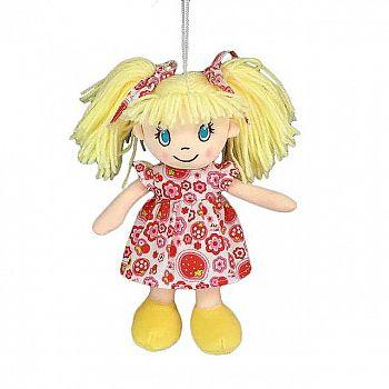 Кукла ABtoys Мягкое сердце, мягконабивная, платье в цветочек, 20 см