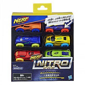 Набор машинок Hasbro NERF Нитро 6 штук