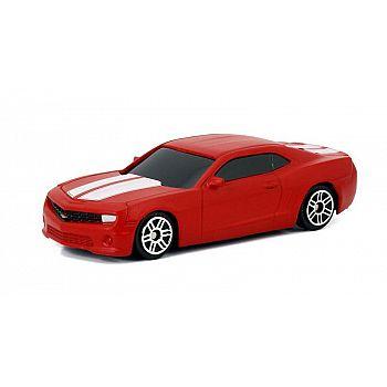 Машинка металлическая Uni-Fortune RMZ City 1:64 Chevrolet Camaro, без механизмов, цвет матовый красный