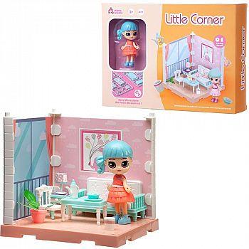 Игровой набор ABtoys Модульный домик (собери сам), 1 секция. Мини-кукла в гостинной, в наборе с аксессуарами
