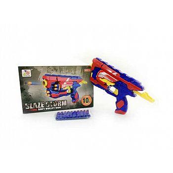 Бластер стреляющий мягкими снарядами 10 шт. в комплекте