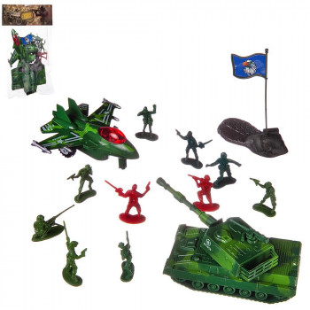 Игровой набор Abtoys Боевая сила Танк и истребитель с акссесуарарми, в пакете