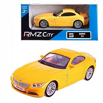 Машинка металлическая Uni-Fortune RMZ City 1:43 BMW Z4 , Цвет Жёлтый