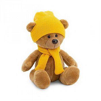 Мягкая игрушка Orange Toys Медведь Топтыжкин коричневый шапка / шарф 17 см