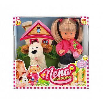 Кукла DIMIAN NENA в наборе с собакой 36 см (без звука)