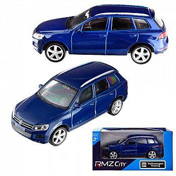 Машинка металлическая Uni-Fortune RMZ City 1:43 VOLKSWAGEN TOUAREG, Цвет Синий