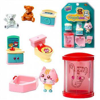 Игровой набор ABtoys Уютный дом Набор мини-мебели. Ванная комната