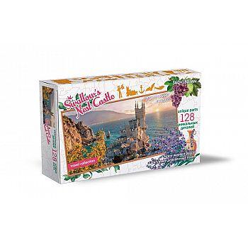 Пазл Нескучные игры Travel Collection Ласточкино Гнездо 128 деталей, фигурный, деревянный