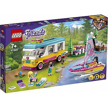 Конструктор LEGO Friends Лесной дом на колесах и парусная лодка