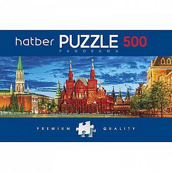 Пазл Hatber Premium 500 элементов А2ф 665Х230 мм Панорама Красная площадь